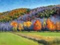 Fall Tree Line, 9x12